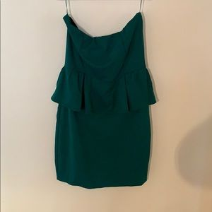 Gorgeous green peplum mini!